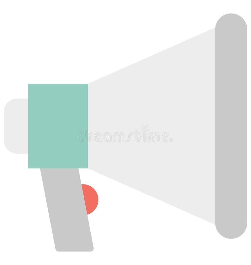 De megafoonkleur isoleerde Vectorpictogram dat Megafoonkleur Geïsoleerd Vectorpictogram gemakkelijk wijzigen of kan uitgeven dat  royalty-vrije illustratie