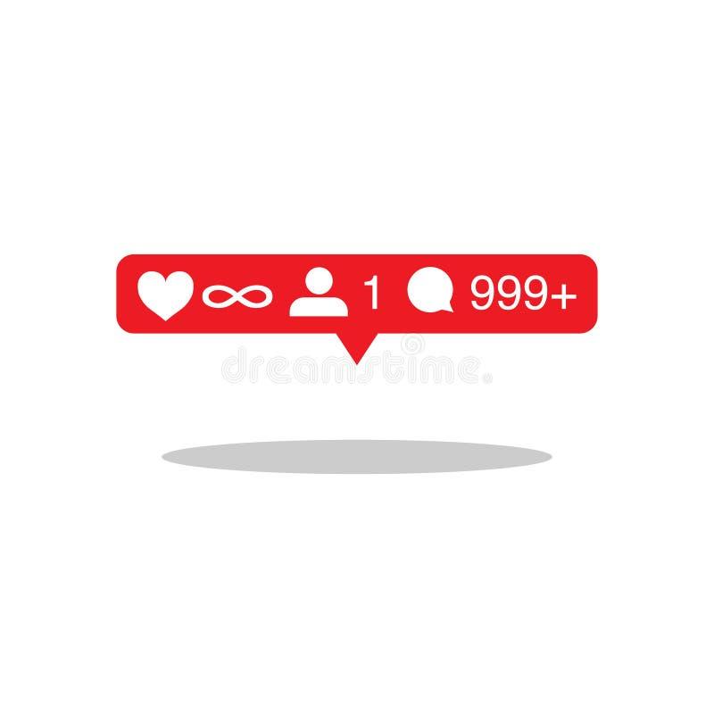 de meisjes dromen pictogram vlak voor sociale media royalty-vrije illustratie