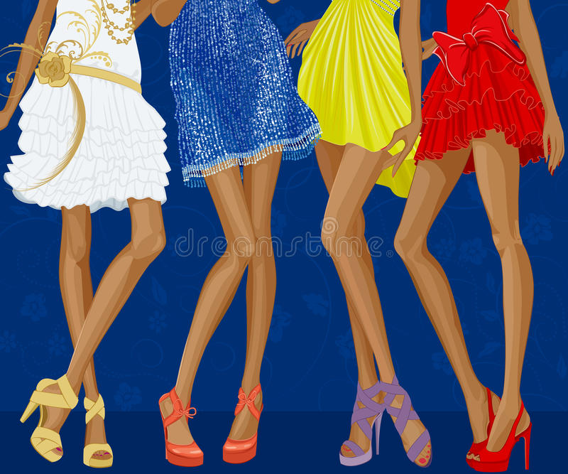 De meisjes van de aantrekkingskracht royalty-vrije illustratie
