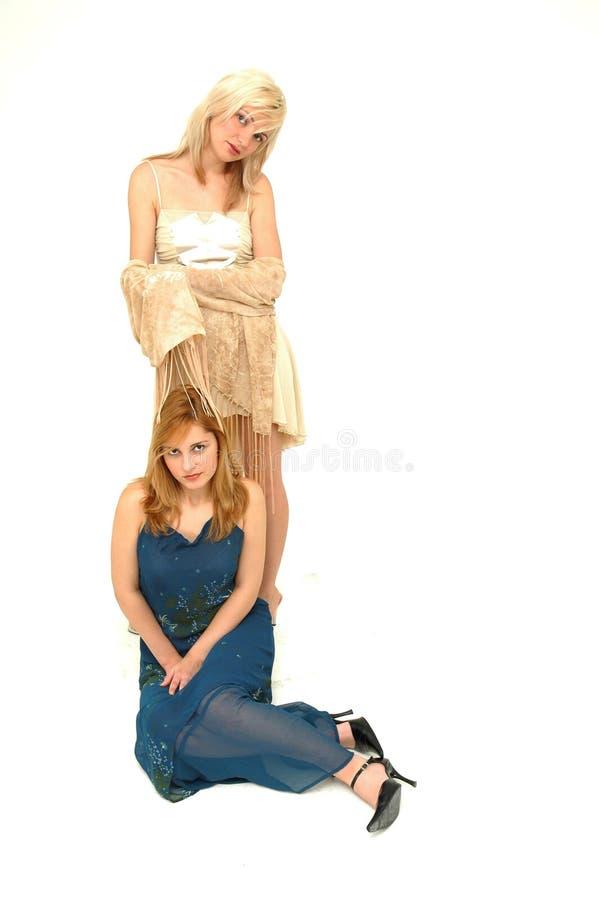De meisjes van de manier stock foto