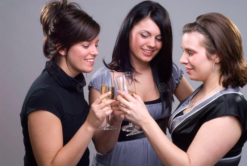 De Meisjes van de partij royalty-vrije stock afbeeldingen