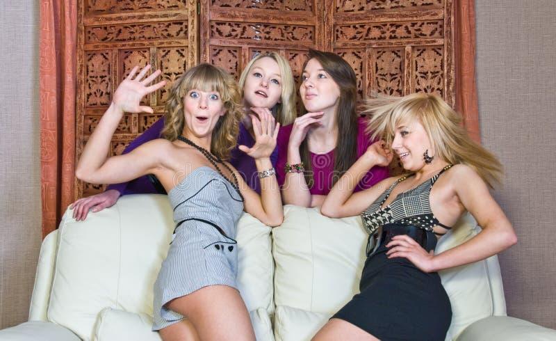 De meisjes van de pret royalty-vrije stock afbeeldingen