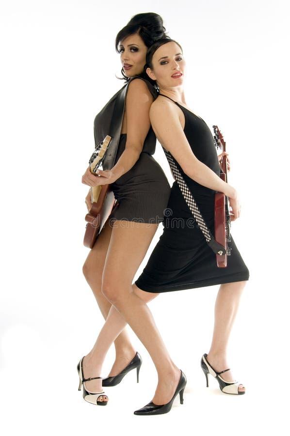 De Meisjes van de Rots van Glam stock fotografie