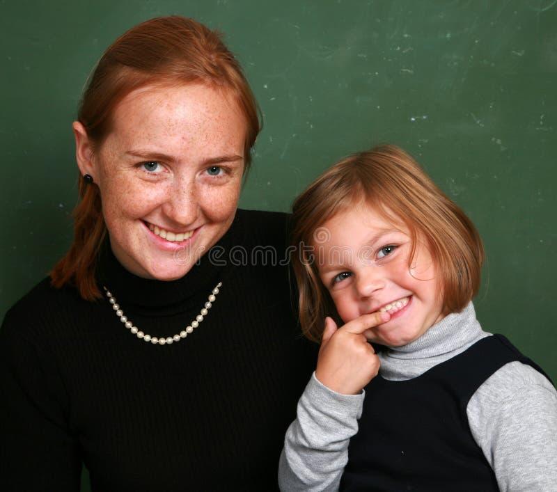 De meisjes van de school stock fotografie
