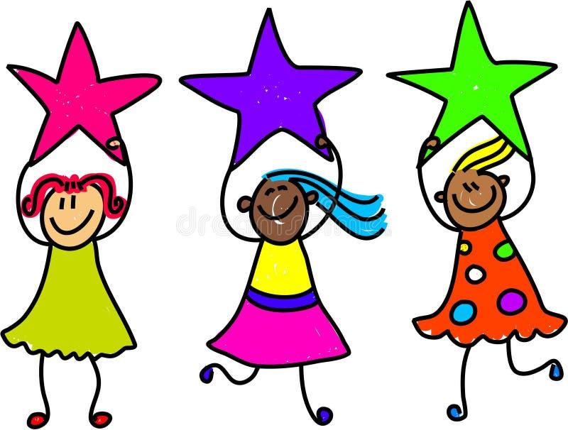 De meisjes van de ster royalty-vrije illustratie