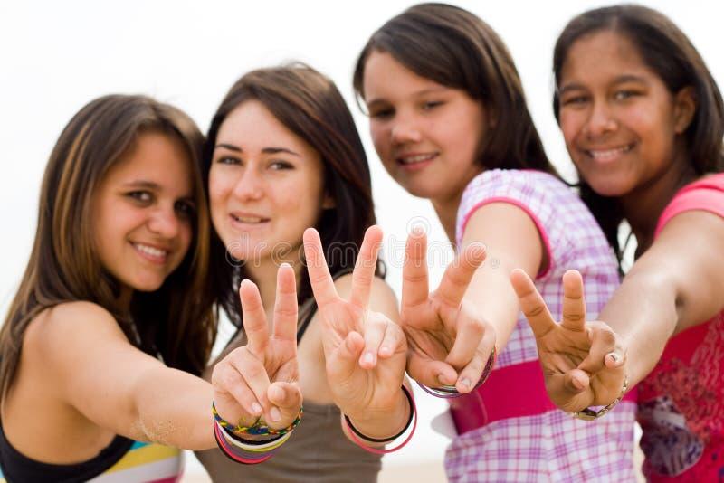 De meisjes van de tiener royalty-vrije stock foto's