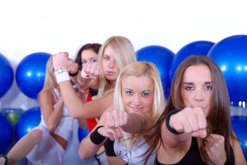 De meisjes van de vechter stock afbeelding