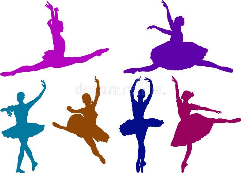 De meisjes van het ballet vector illustratie