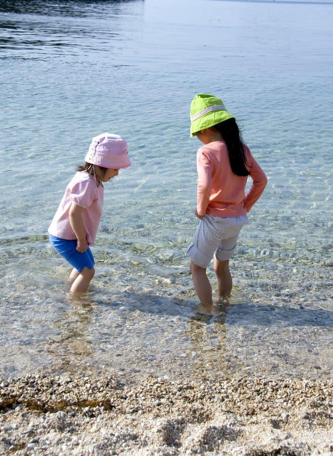 De Meisjes van het strand stock foto's
