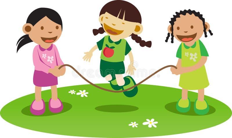 De meisjes van Litle het Spelen royalty-vrije illustratie