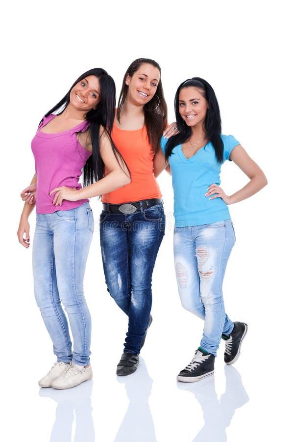 De meisjes van tieners stock foto