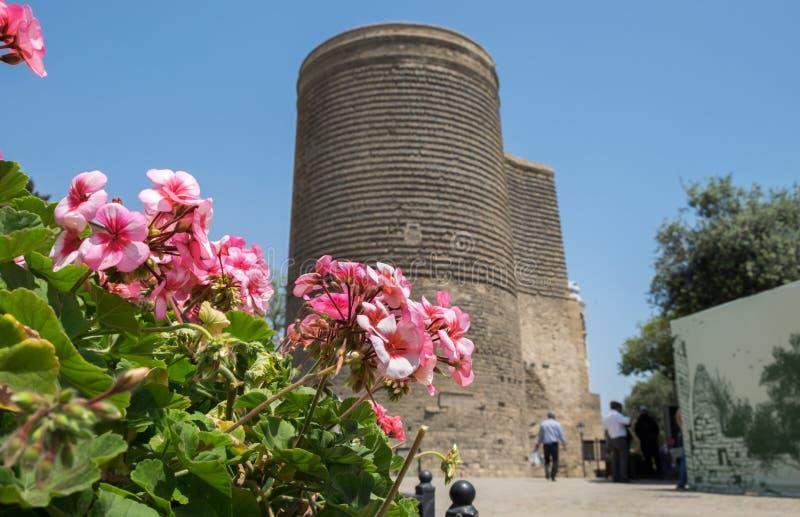 De Meisjetoren, Baku, Azerbeidzjan royalty-vrije stock foto's