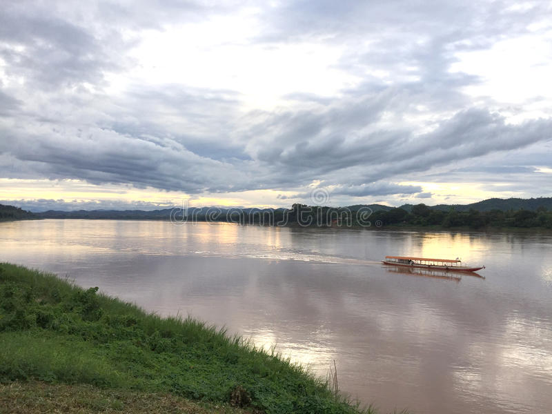 De Mekong Rivier royalty-vrije stock afbeeldingen