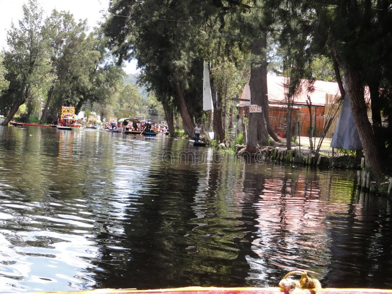 De Meksyk, Meksyk Xochimilco, Ciudad - obrazy royalty free