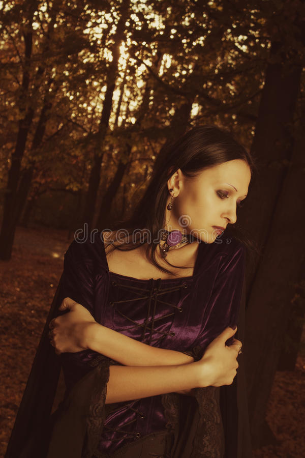 De melancholie van de herfst royalty-vrije stock fotografie
