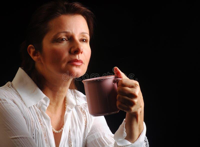 De melancholie van de koffie stock afbeelding