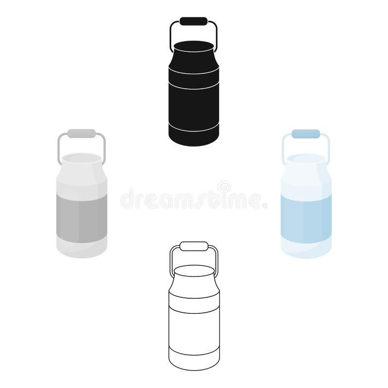 De melk blikt pictogrambeeldverhaal in Enige bio, eco, biologisch productpictogram van het grote melkbeeldverhaal stock illustratie