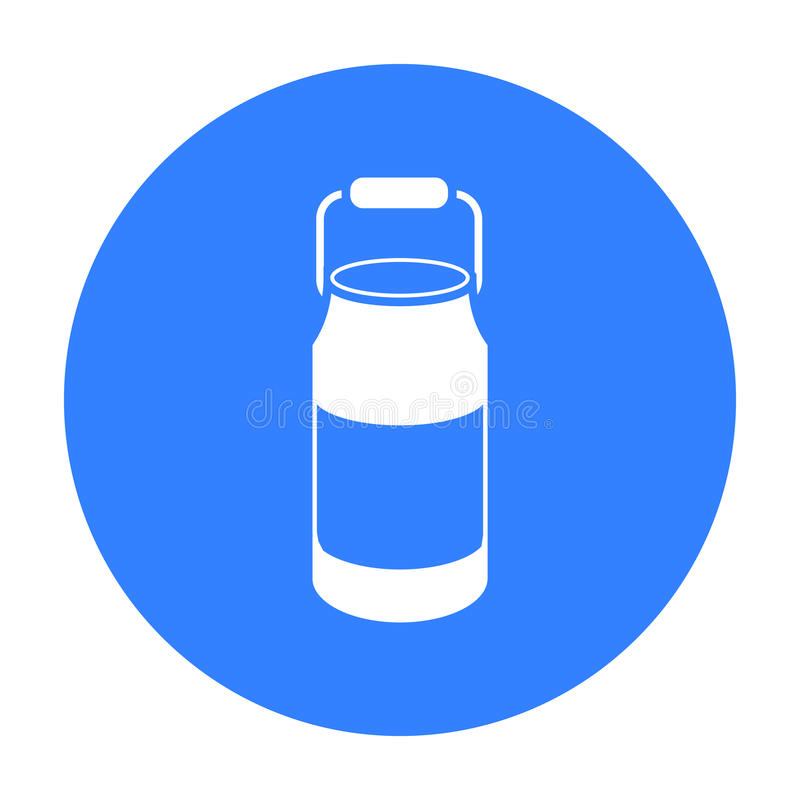 De melk blikt pictogramzwarte in Enige bio, eco, biologisch productpictogram van de grote melkzwarte royalty-vrije illustratie