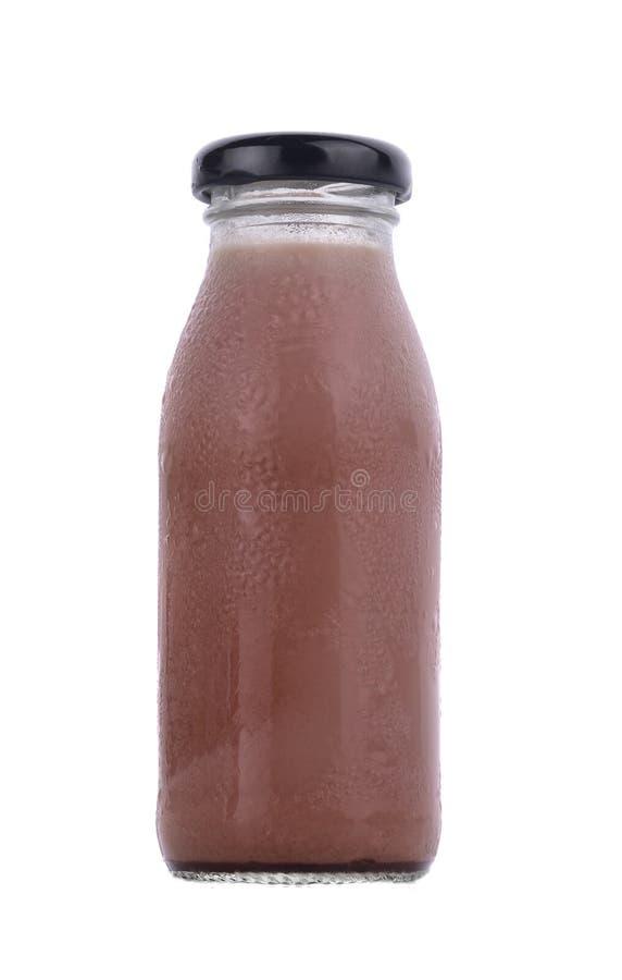De Melk van de chocolademelk in de fles royalty-vrije stock foto's
