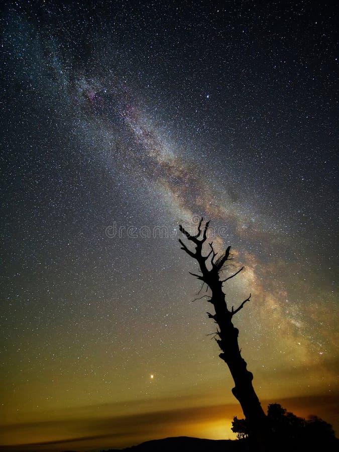 De de Melkweg en Stijging van Mars stock foto's