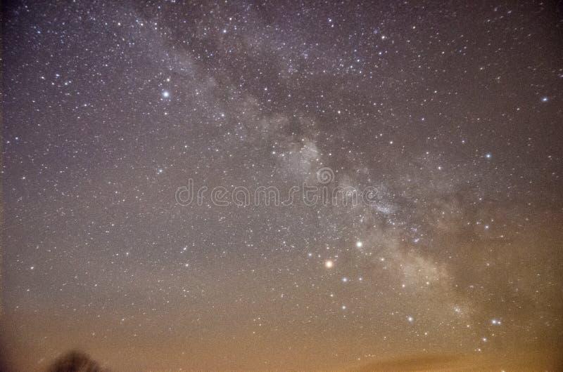 De Melkweg tijdens de Lente royalty-vrije stock foto's