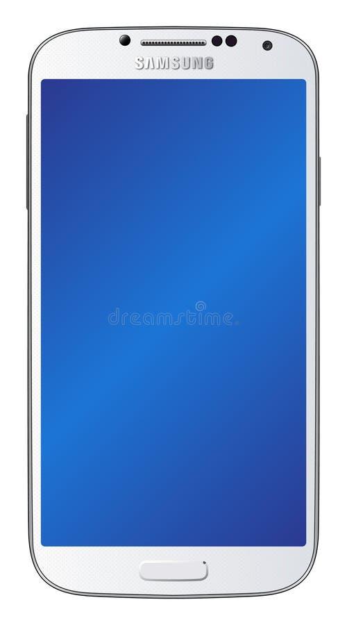 Het Wit van de Melkweg van Samsung S4 stock illustratie