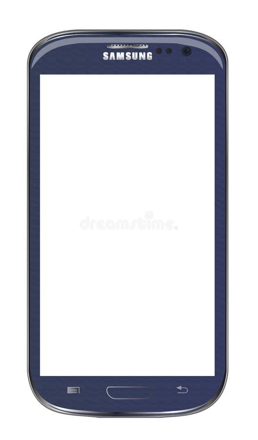De melkweg van Samsung s3 stock illustratie