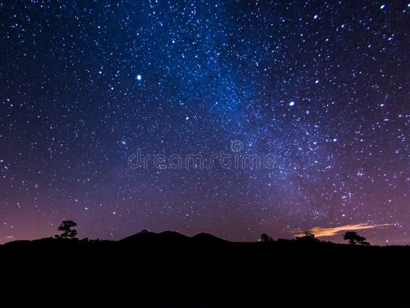 De Melkweg van Tenerife stock afbeelding