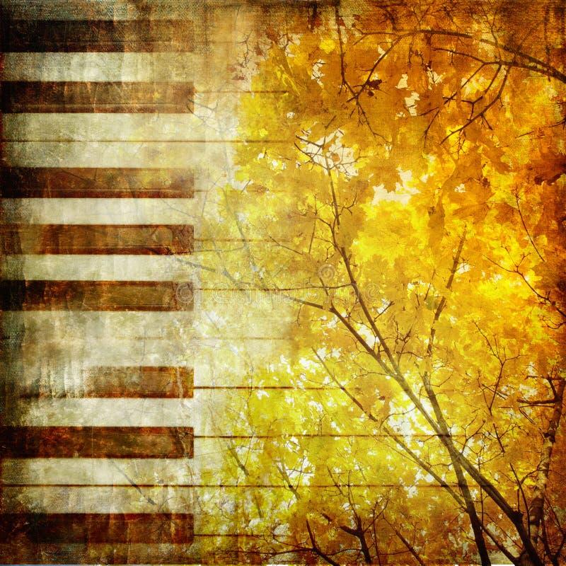 De melodie van de herfst vector illustratie