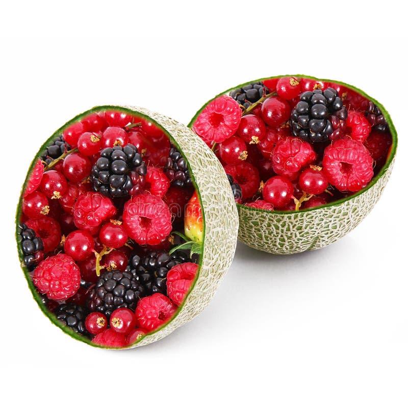 De meloen-bessen van het Ibridfruit stock afbeeldingen