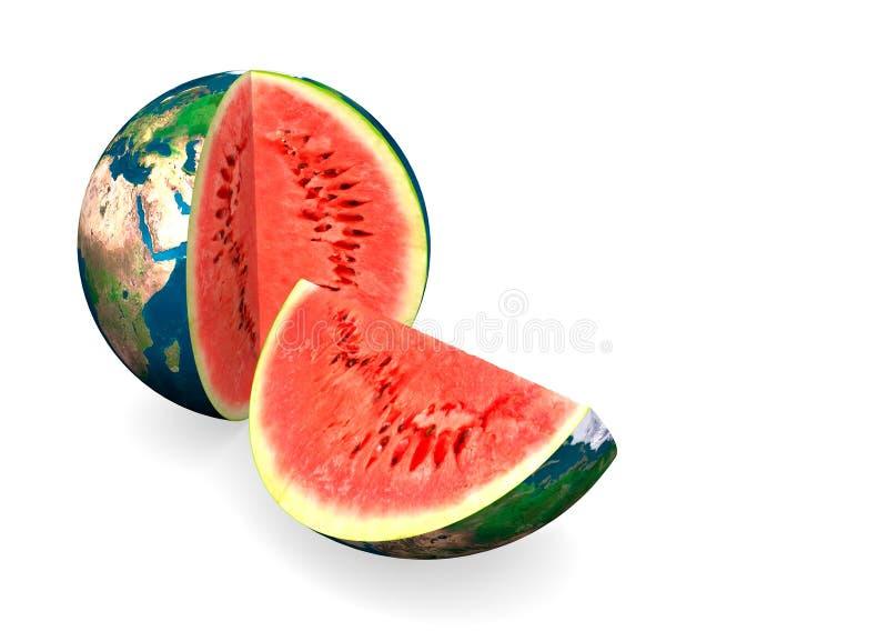 De Meloen van het Water van de aarde stock illustratie