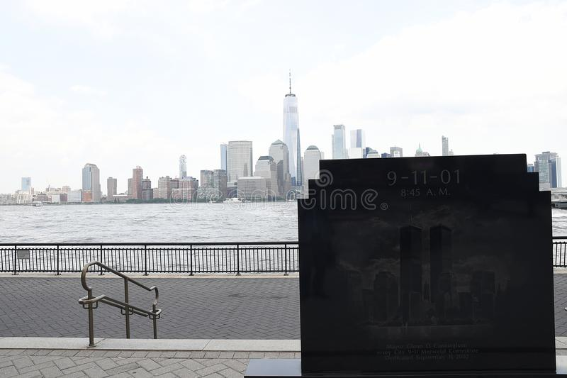 9/11/2001 DE MEMORIAL EM JERSEY CITY JERSEN NOVO foto de stock royalty free