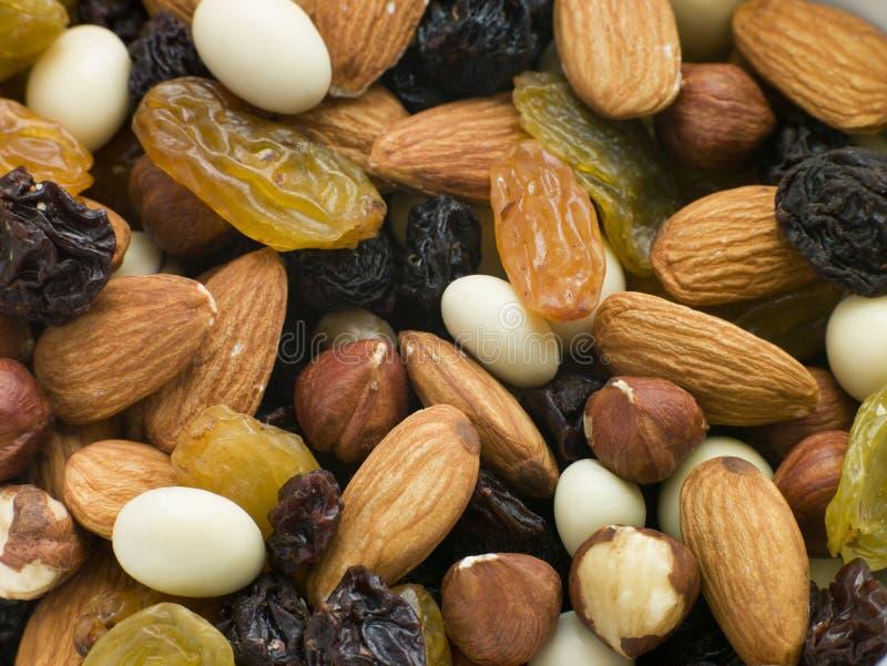 De Mengeling van de noot en van het Gedroogd fruit stock fotografie