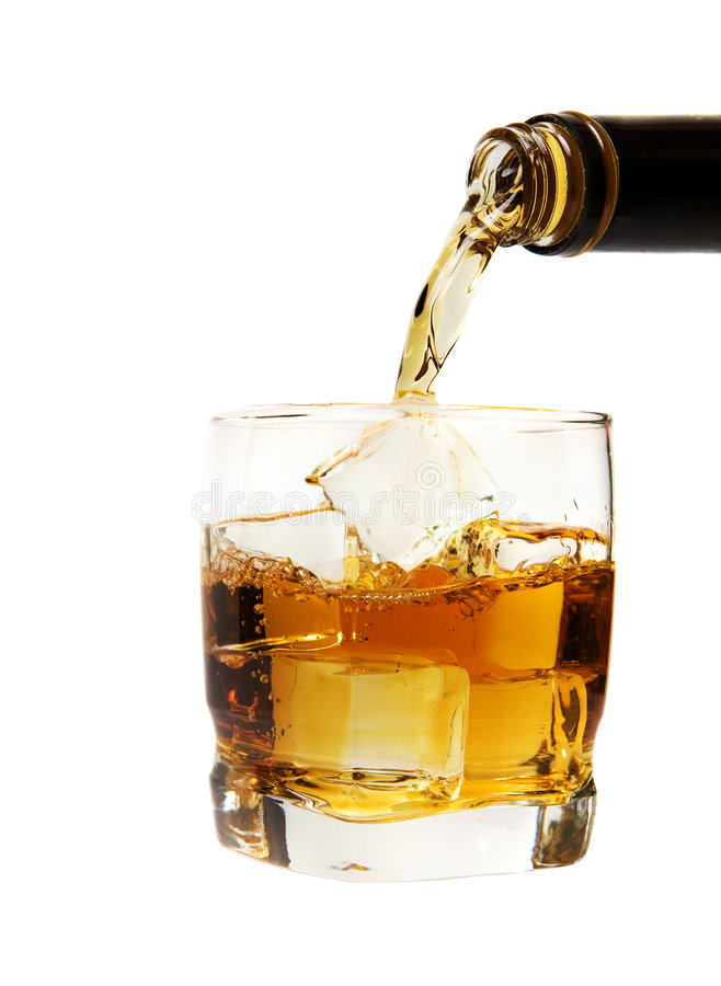 De mengeling van de whisky royalty-vrije stock foto