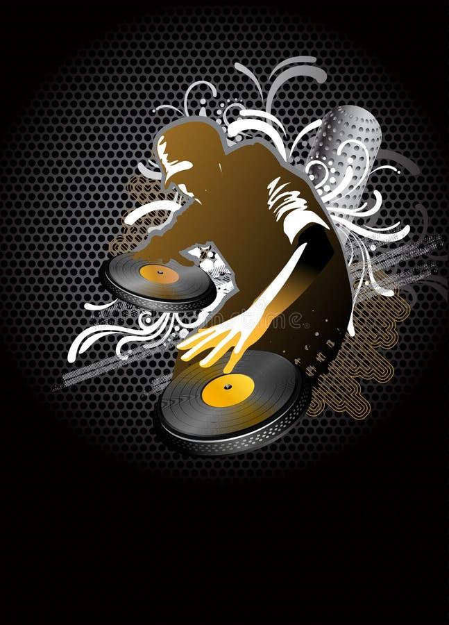 De mengeling van DJ stock illustratie