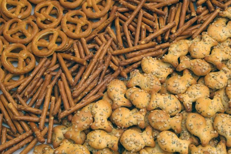 De mengeling van snacks stock afbeelding