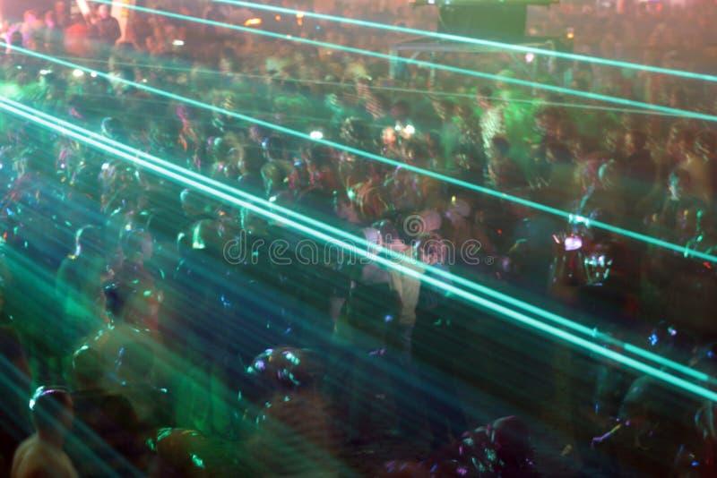 De menigte van de laser royalty-vrije stock foto's