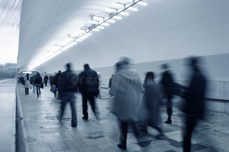 De menigte van de metro stock foto's