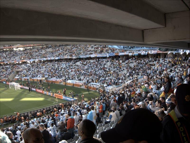 De menigte van de voetbal of van het voetbal royalty-vrije stock foto