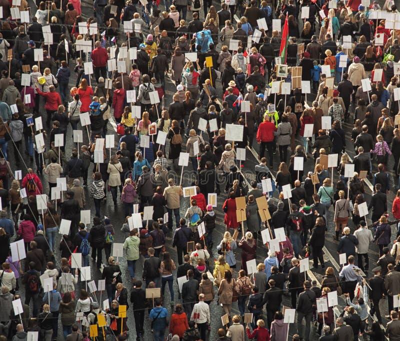 De menigte van mensen toont aan royalty-vrije stock afbeelding