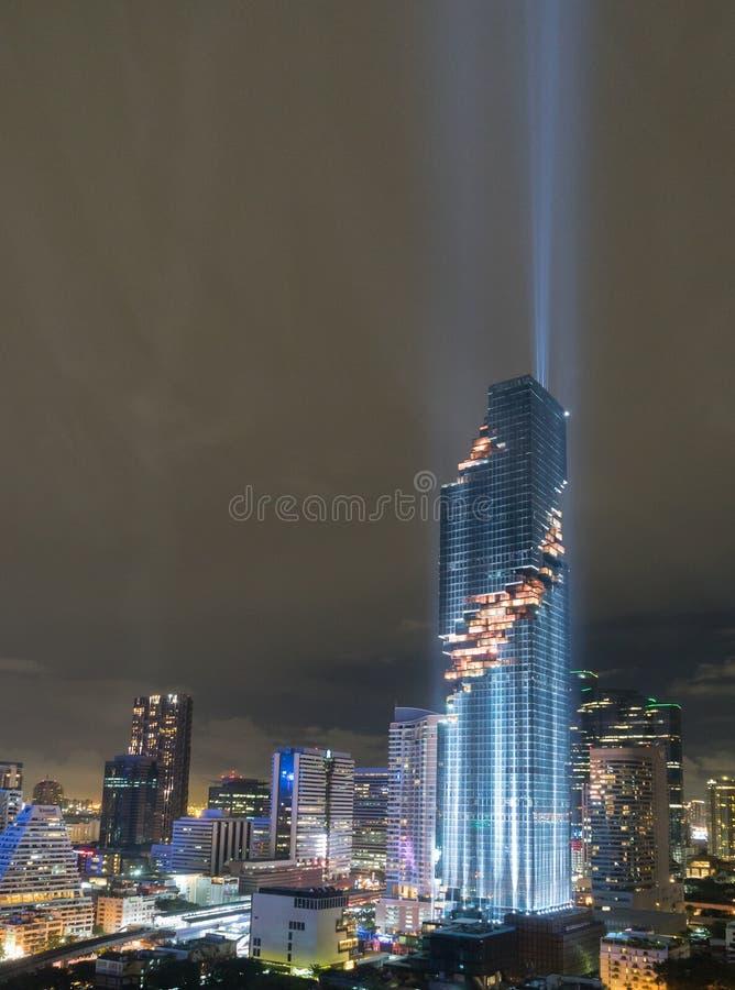 De mening Mahanakhon van Bangkok is het nieuwe hoogste gebouw in Bangkok stock afbeeldingen