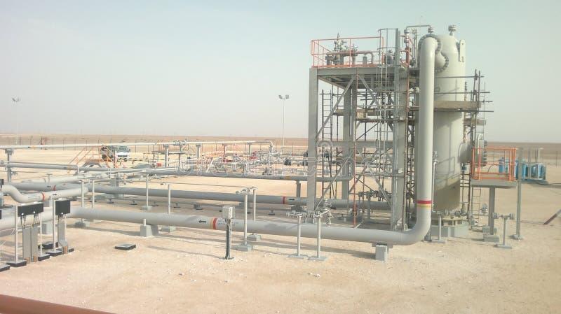 De mening Oman van de bouwinstallatie stock afbeeldingen