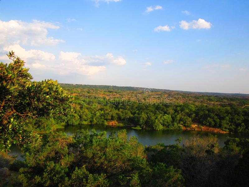 De Mening over Texas Hill Country royalty-vrije stock foto's