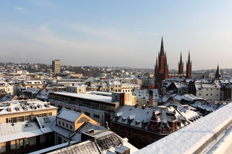 De mening over Wiesbaden royalty-vrije stock foto's