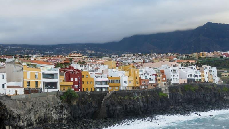 De Mening puerto DE La cruz Tenerife van de oceaankust royalty-vrije stock foto's