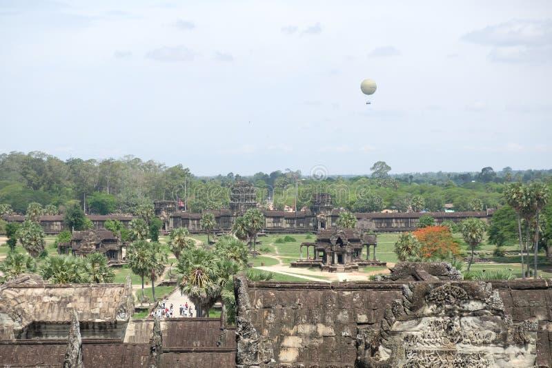 De mening van Angkor Wat, Angkor, Kambodja stock afbeeldingen