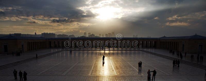 De mening van Ankara van Ataturk-mausoleum Anitkabir Ankara, Turkije royalty-vrije stock fotografie
