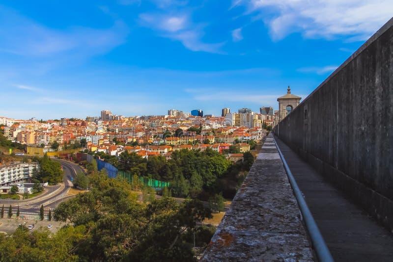 De mening van aquaduct van de vrije wateren stock afbeeldingen