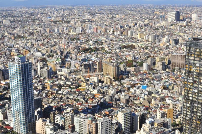 De mening van Ariel van de stad van Tokyo, Japan royalty-vrije stock afbeeldingen
