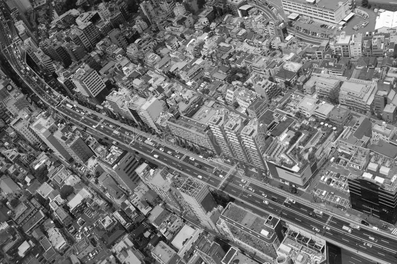 De Mening van Ariel van de Voorstad van Tokyo royalty-vrije stock fotografie